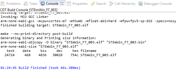 Tutorial on STEmWin on STM32F746G Discovery board